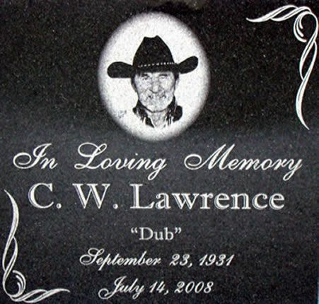 Photo Memorial In Loving Memory Engraved Granite Tile