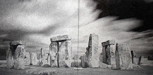 Stonehenge Photo  Engraved Granite Tile