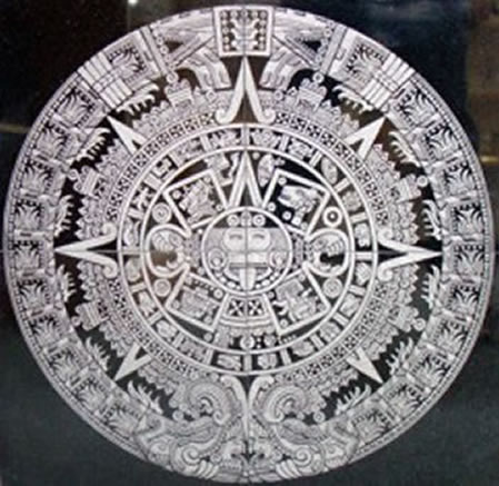 Aztec Mayan Engraved Granite Tile