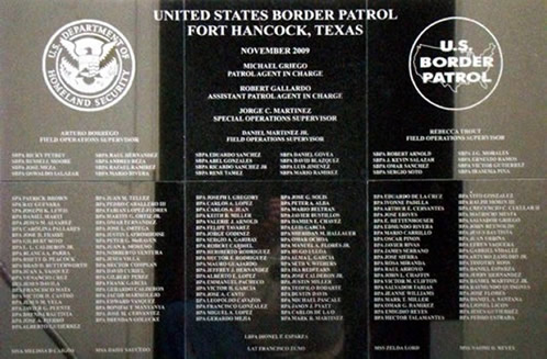 Border Patrol Homeland Security Logo Engraved Granite Tile