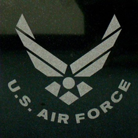 US Air Force Logo Engraved Granite Tile